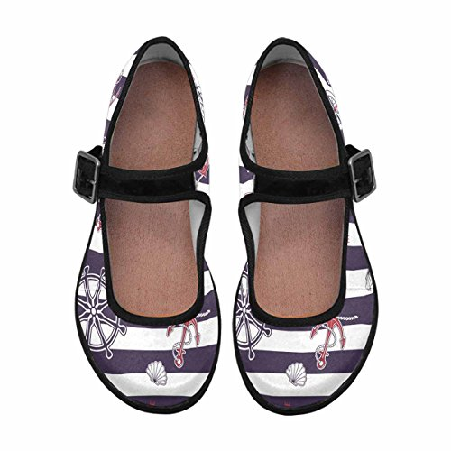 Shoes Comfort Mary Flats Multi Casual Walking Womens InterestPrint 6 Jane 1Awq0xS