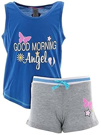 Amazon.com: Katnap Kids Big Girls' Good Morning Angel Blue