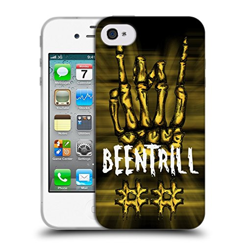 Official Been Trill Rock Sign Mixed Soft Gel Case for Apple iPhone 4 / 4S