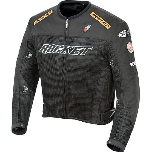 Joe Rocket UFO 2.0 Mesh Motorcycle Jacket Black Mens Size L - Mens Mesh Street Motorcycle Jackets