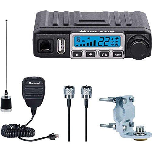 Midland MXT115VP3 Micro Mobile MXT115 15W GMRS 2 Way Radio Antenna Bundled Kit by Midland