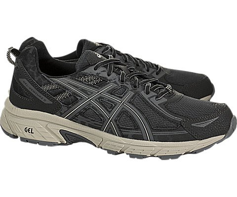 ASICS Men's Gel-Venture 6 Black/Dark Grey Ankle-High Running Shoe - 7M