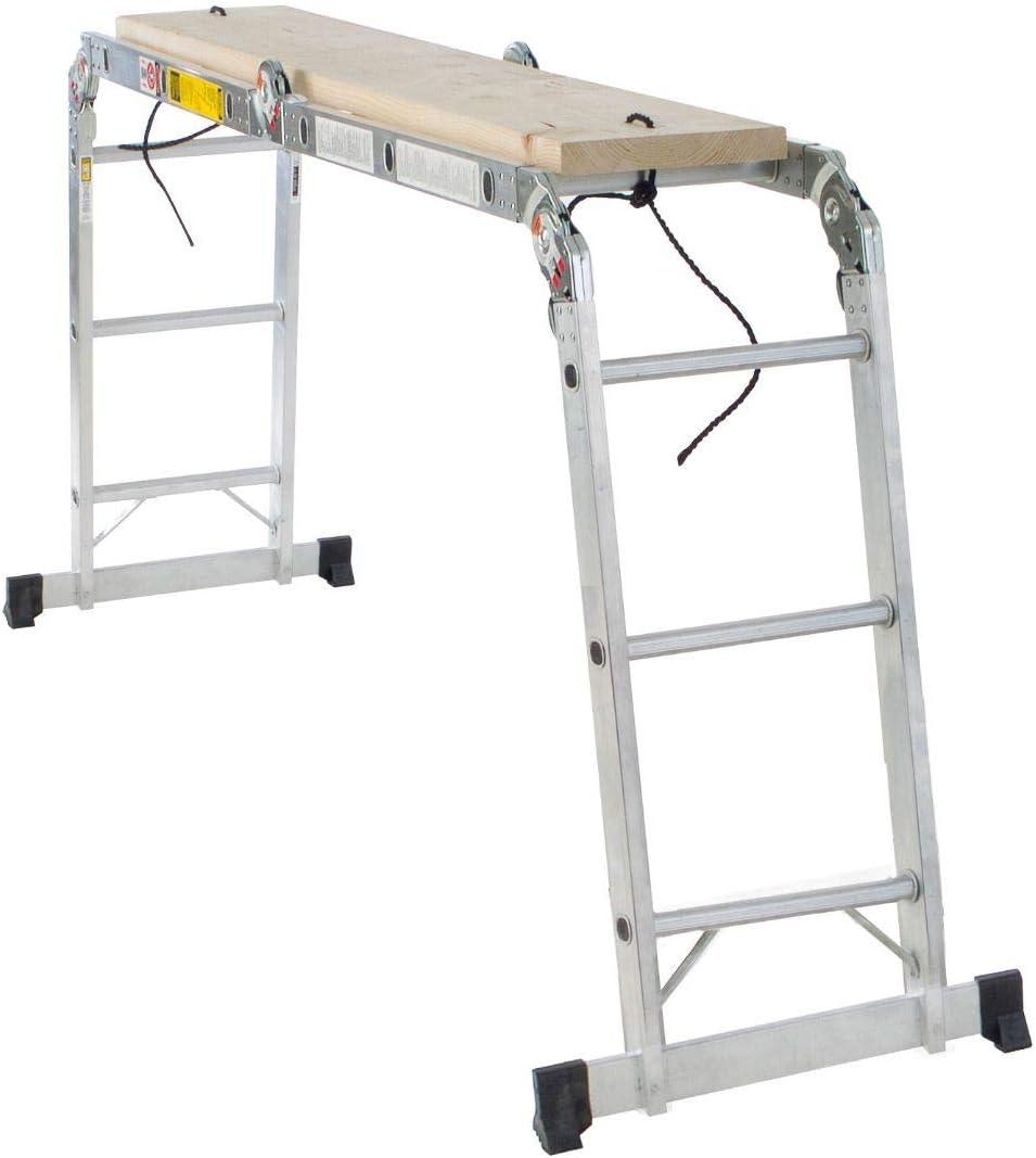 Werner multi-ladder articulado 12 de aluminio escalera tipo Ia 300 kg Heavy Duty: Amazon.es: Bricolaje y herramientas