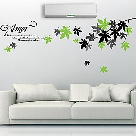 Syga 'Maple Leaf' Wall Sticker (PVC Vinyl, 50 cm x 5 cm x 5 cm) Wall Stickers at amazon
