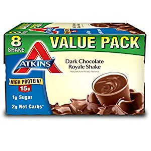 Atkins Ready to Drink Protein Rich Shake, Dark Chocolate Royale, Gluten Free, 8 Count