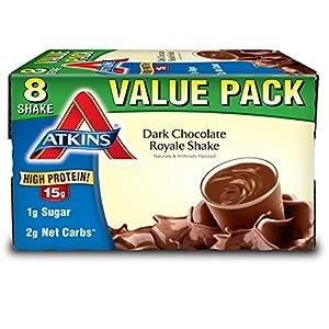 Atkins Gluten Free Protein Rich Shake, Dark Chocolate Royale, 8 Count