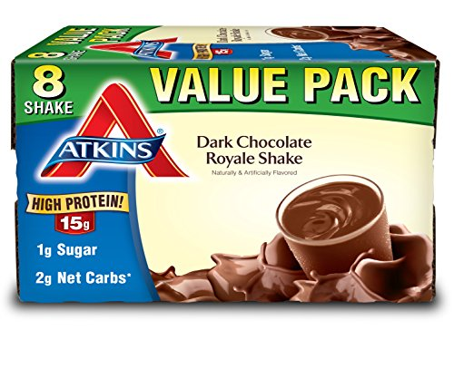 Atkins Ready To Drink Shake, Dark Chocolate Royale, 8 Count
