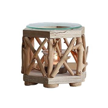 LF stores-Porta-inciensos Estufa de aromaterapia aromática para el hogar Aroma de Madera Maciza Vela de Incienso Vela de té Ceremonia de té (Color : D): ...