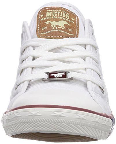 Sneakers basse donna Mustang 1 Weiss da bianche 302 22 1099 PT6wqtH