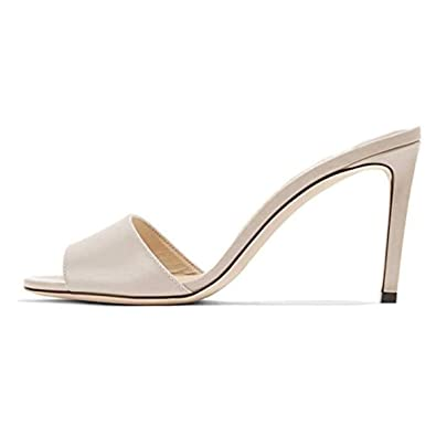 2b00fe9be98 FSJ Women Casual Peep Toe Mule Sandals Stiletto High Heels Party Evening  Shoes Size 4-15 US