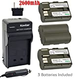 Kastar Battery (3-Pack) and Charger for Canon