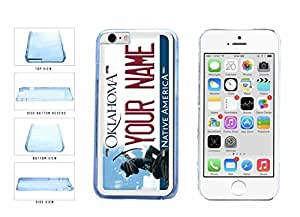Personalized Custom Oklahoma License Plate Clear Plastic Phone Case Back Cover Apple iphone 5 5s ( es screen) includes fashion case Cloth and Warranty Label