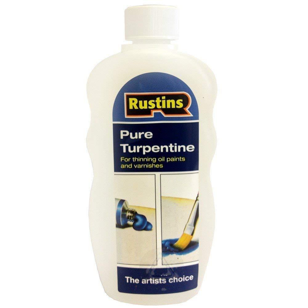 Rustins 5015332570058 Plastic Pure Turpentine - Clear