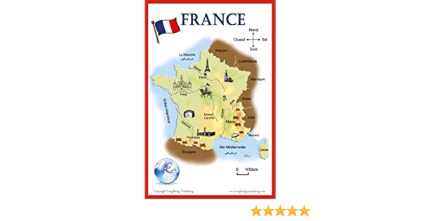 French Language School Poster - Simplified Map of France