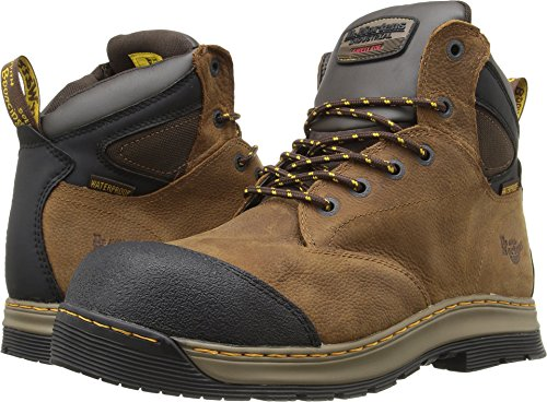 Steel Composite Toe (Dr. Martens Men's deluge EH ST 6 Eye Work Boots, Brown, Leather, Rubber, 9 M UK, 10 M US)