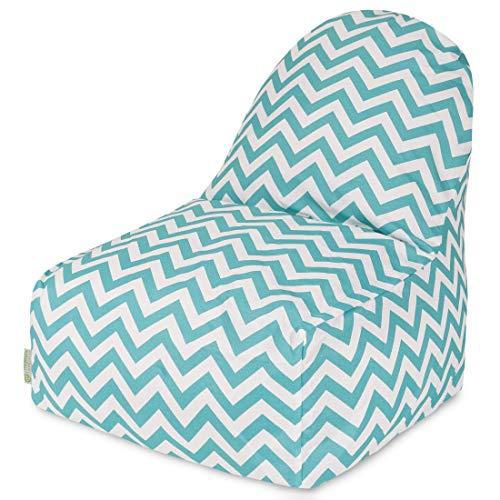 Majestic Home Goods Chevron Kick-It Chair, Teal