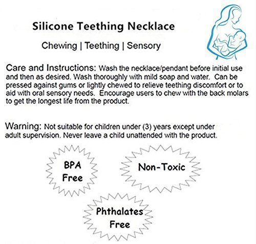 Olele Baby Teething Teether Toys Necklace Pain Relief Silicone Biscuits Mom Jewelry Toothbrush BPA Free Toy Gift