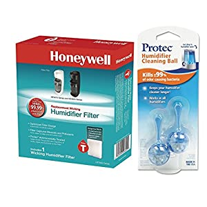 """Honeywell Humidifier Filter """"T"""" For Use with HEV615 and HEV620 with PC2V1 Cartridge Cleaner Bundle"""