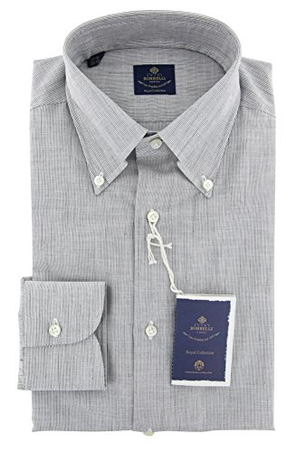 new-luigi-borrelli-light-gray-striped-extra-slim-shirt