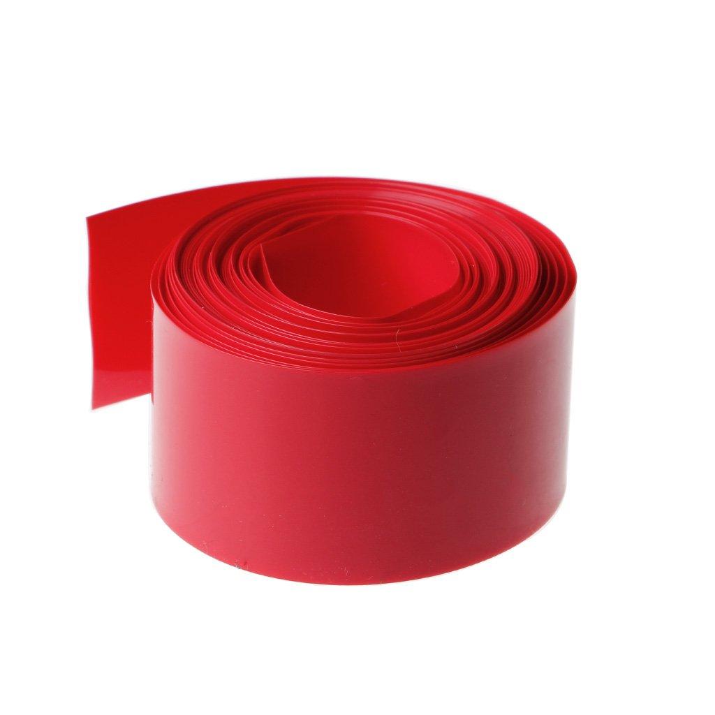 Numkuda 5/m PVC thermor/étractable Tube Wrap kit pour 18650/18500/batterie plate ronde 18.5/mm blanc
