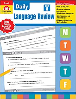 Evan-Moor Daily Language Review Grade 8 Teacher s Edition