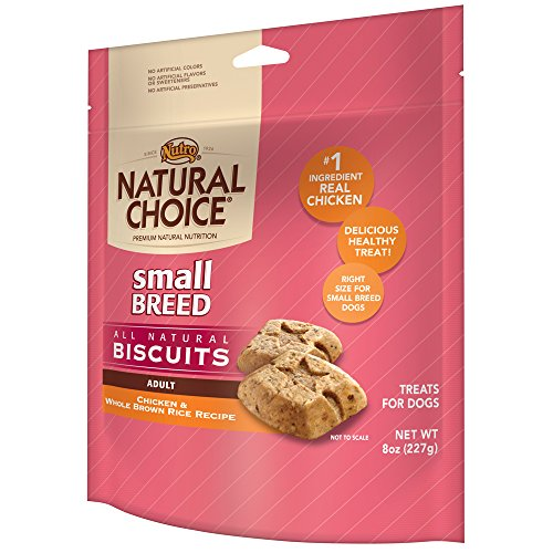 NUTRO NATURAL CHOICE Small Breed Adult Dog Treats, Chicken and Whole Brown Rice, 8 oz.