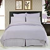 ''Fit for Royalty'' wrinkle free King Bed in a Bag set; Silky soft microfiber for a rich slumber; Crisp Lilac color for any room reno style