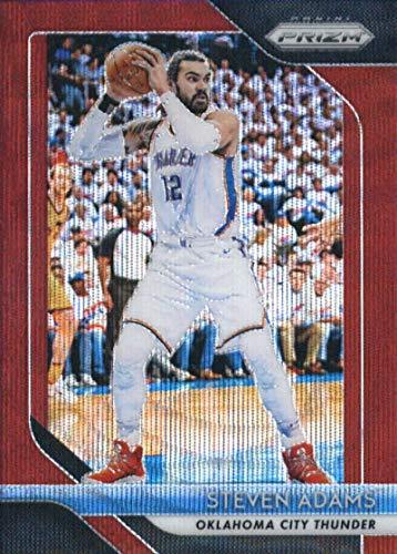 2018-19 Panini Prizm Prizms Ruby Wave #69 Steven Adams Oklahoma City Thunder Basketball Card