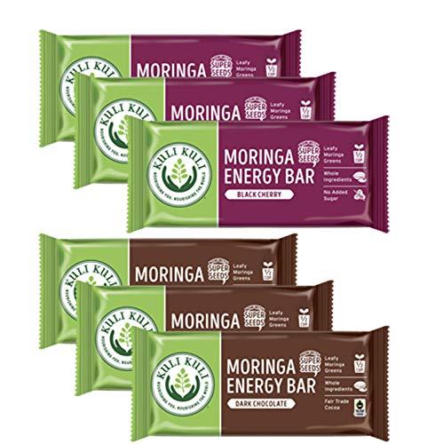 Kuli Kuli Moringa Bars, 1.6 Oz Bars, Naturally Boosted With Superfoods Including Moringa, Variety, 6Count