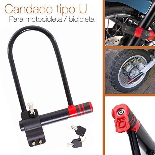 Desconocido CANDADO ANTIRROBO Seguridad Acero Bicicleta Moto Tipo U