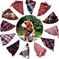 TAOBABY Boys/Girls 8PCS/Pack Pet Puppy Dog Cat Bandanas Dog Classic Plaid Patterns Scarf for Small,Medium Size Dog,Large Cats from TAOBABY