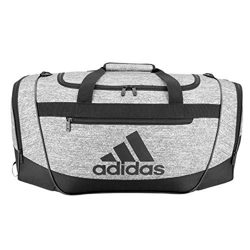 adidas Defender III medium duffel Bag, Onix Jersey/Black, One Size