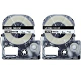 Absonic Tape Cassette Replacement for EPSON LW-300 LW-400 LW-500 LW-700 LW-900P LC-2WBN9 (1/4