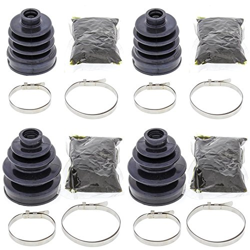Complete Front Inner /& Outer CV Boot Repair Kit for Kawasaki Mule 3010 4X4 2001-2008 All Balls