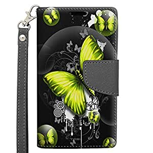 LG Access Wallet Case - Highlighted Butterfly Yellow on Black