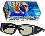 Ultra-Clear HD 144 Hz DLP LINK 3D Active Rechargeable Shutter Glasses for All