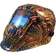 Hydro Dipped Auto Darkening Welding Helmets - Don't Tread On Me USA Flag Pattern
