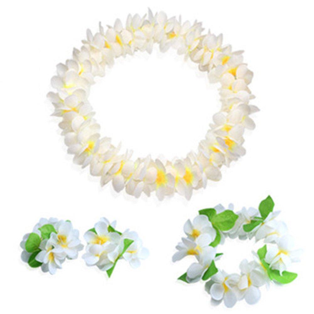Amazon Vidillo Hawaiian Leis Jumbo Necklaces Bracelets Headband