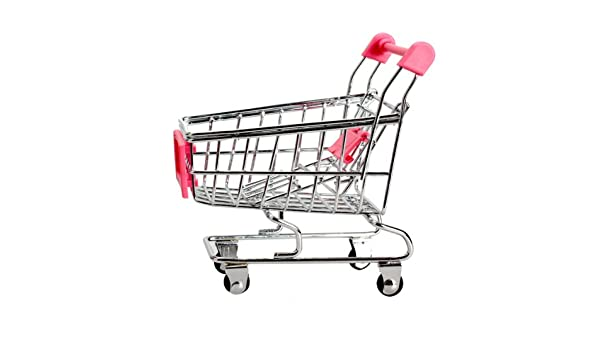Amazon.com: Anysell88 Storage Cart Box Organizer Container Toy Mini Supermarket Handcart for Children Gift Pink: Shoes