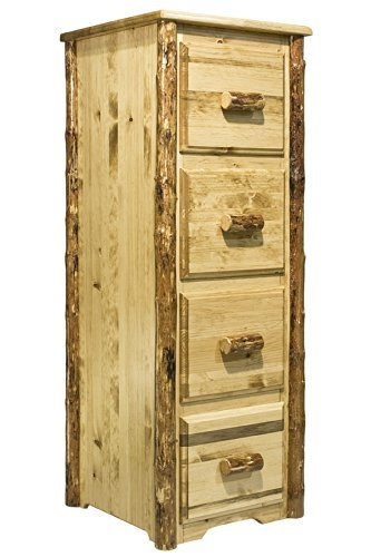 Montana Wood Cabinet - Montana Woodworks MWGCFC Glacier Country Collection 4-Drawer File Cabinet
