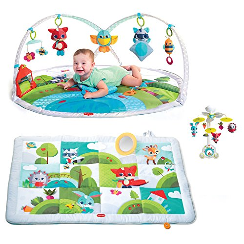 Tiny Love Meadow Days Dynamic Gymini Infant Play Mat   2 In 1 Soothe N Groove Mobile   Play Mat