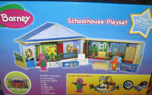 Barney Deluxe Schoolhouse Playset With Play Figures Import It All