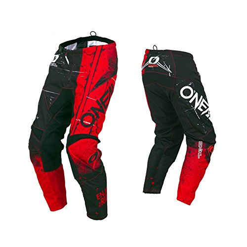 O'Neal Unisex-Child Element Youth Shred Pant Red 8/10