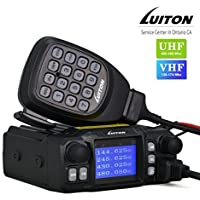 Mobile Radio LT-425UV 25 Watt Dual Band Transmission 4-Band Receiving And 4-Band Standby Mini Mobile Radio By LUITON ( Programming Cable Include)