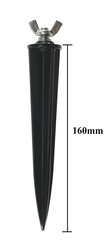 Trango 5 pacchi Punto di messa a terra per linstallazione di proiettori TGGS5 I Floods u.v.m Spiedo da giardino