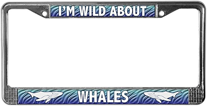 I Love Carolina Beach Ocean Palm Tree Metal License Plate Frame Tag Holder