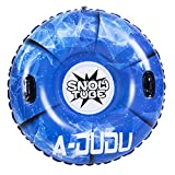Snow Tube - Super Big 47 Inch Inflatable Snow Sled with Rapid Valves - Heavy Duty Inflatable Snow Tube Made by Thickening Material of 0.6mm-Free Waterproof Carrying Bag&Repair Kit[Kids&Adults]