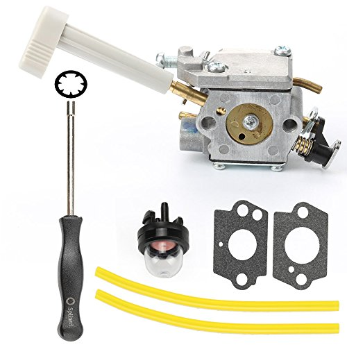 Hilom Carburetor with Choke Lever Adjusting Tool Mounting Gasket Primer Bulb Fuel Line for Ryobi RY08420 RY08420A Backpack Blower OEM Part Number 308054079 by Hilom