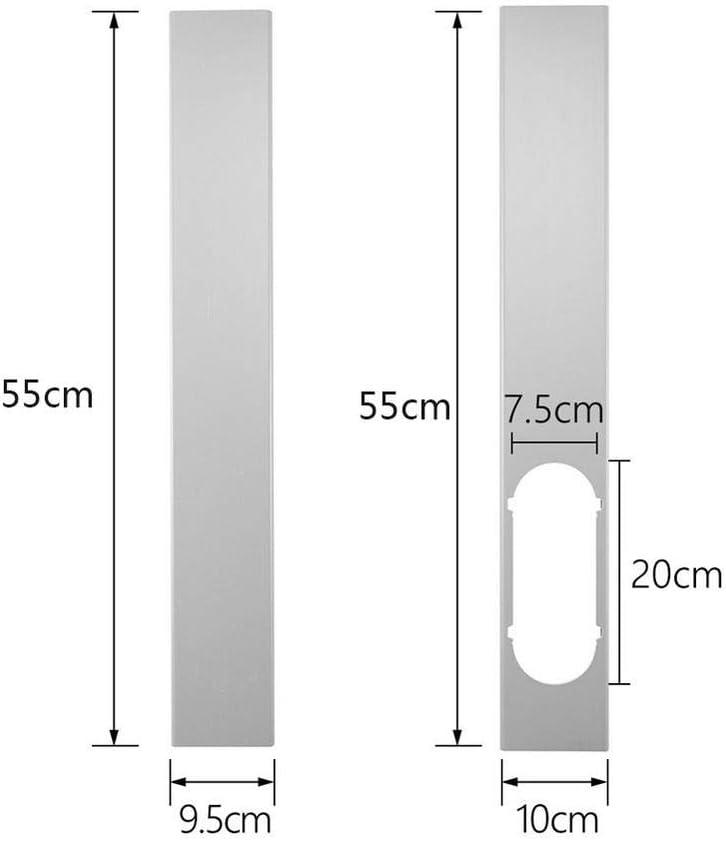 1Pcs 15cm Interfaccia a Bocca Piatta per Aria Condizionata Portatile AU Ridecle 2Pcs Mobile Air Conditioning Finestra Piastra di Chiusura Regolabile