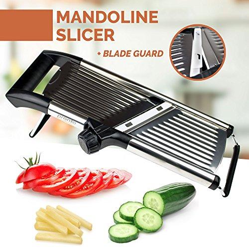 Pronto Kitchen Adjustable Stainless Steel Mandoline Food